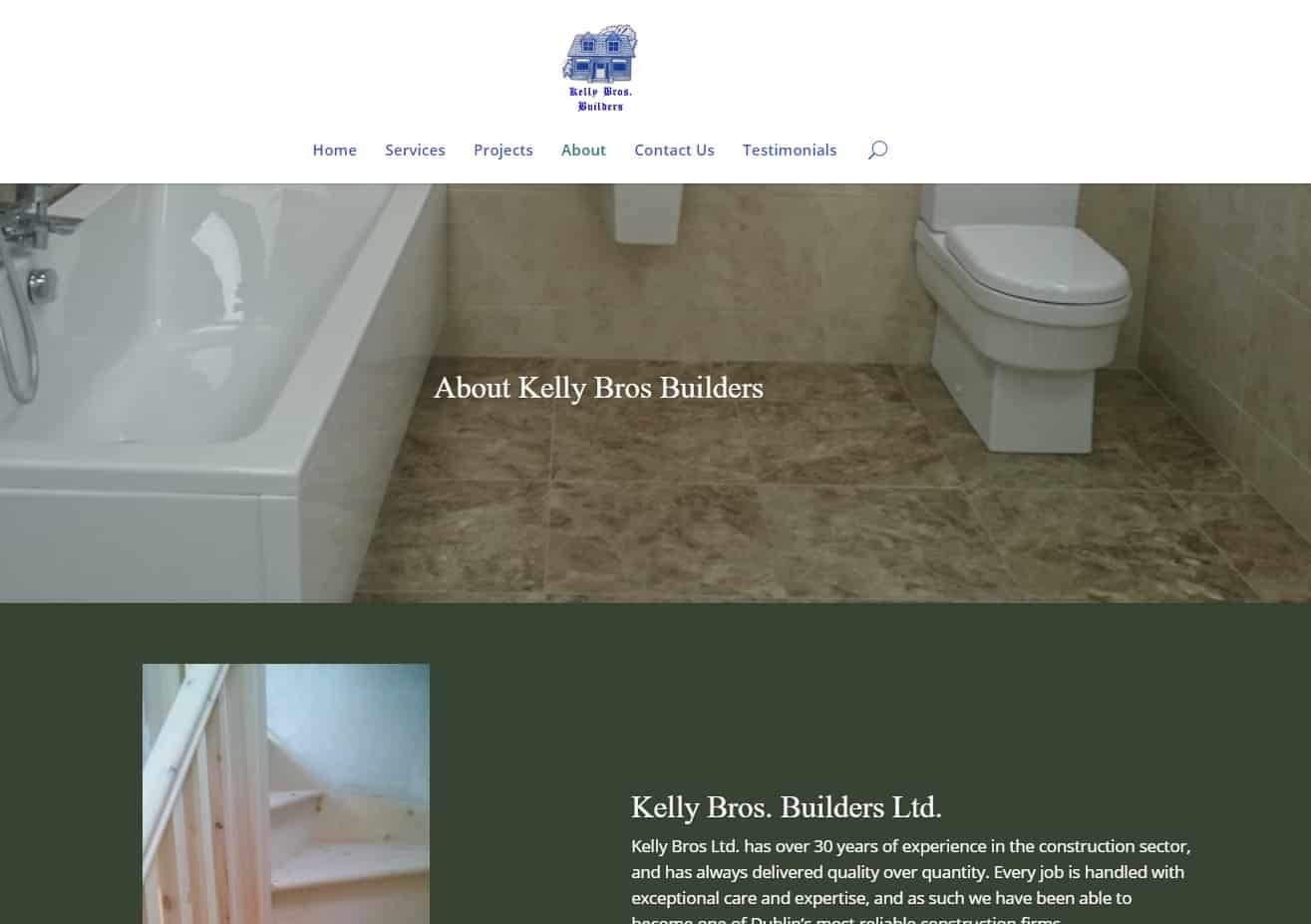 Web Design for Builders Screenshot: Services Page