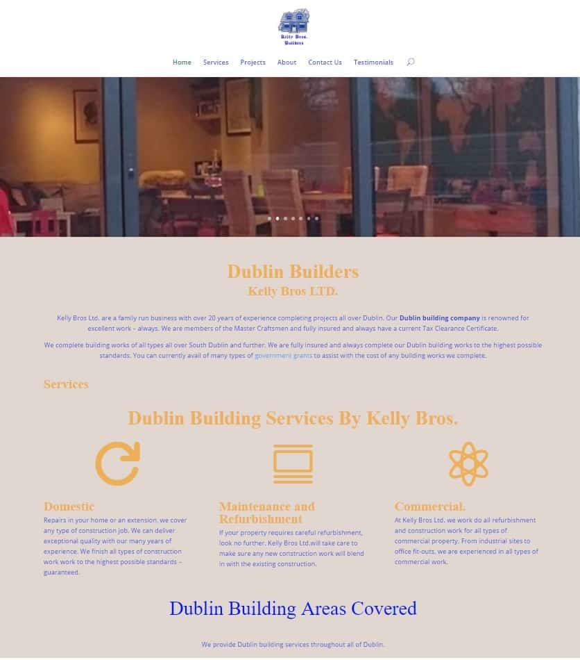 Web Design for Builders Screenshot