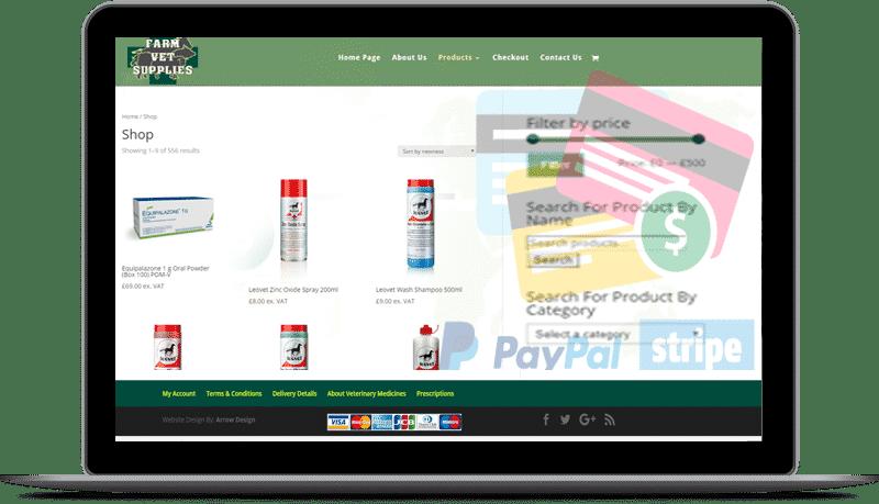 e-commerce dublin webdesign example - Gilna Opticians