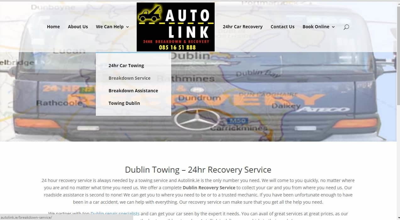 Web design for Towing Companies
