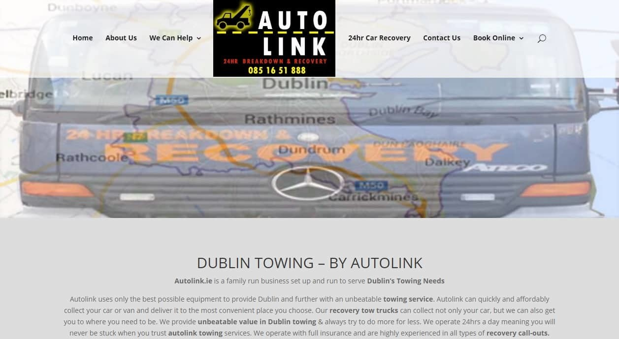 Web design for Towing - Autolink.ie