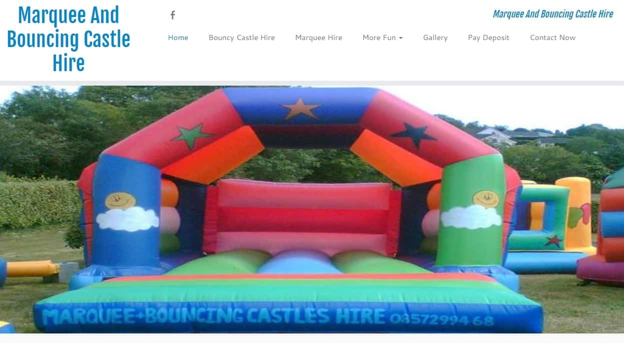 web design for party planners