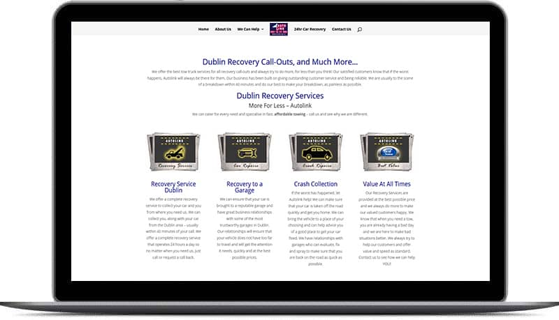 web design for Towing