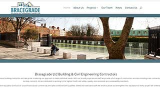 website design for builders - example bracegrade homepage screenshot