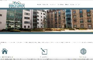 website design for builders - example bracegrade services screenshot
