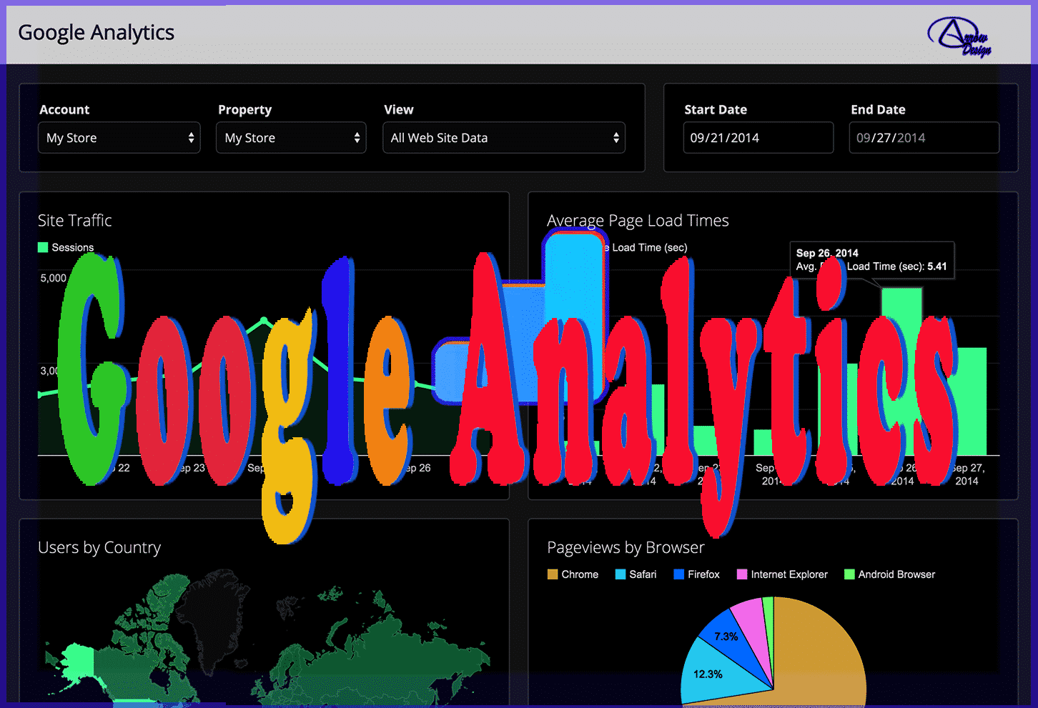 Google Analytics Complete Arrow Design