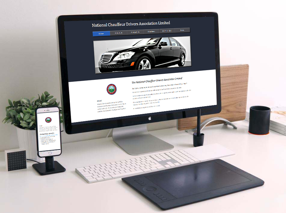 web design for Chauffeur Associations