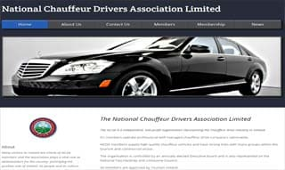 website design for Chauffeurs - example NCDAI