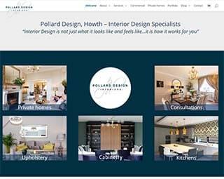website design for interior design in Dublin