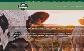 website design for veterinary supplies