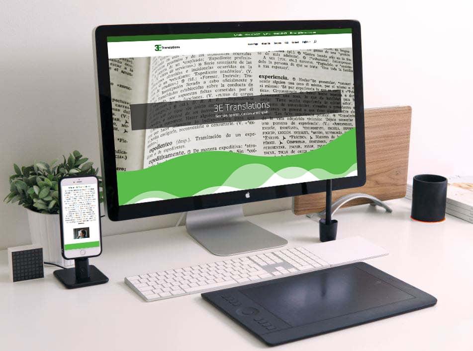 Website design for a translator