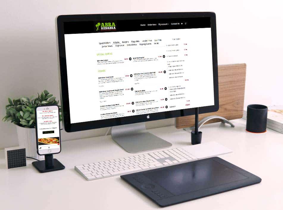 Website design for Abrakebabra