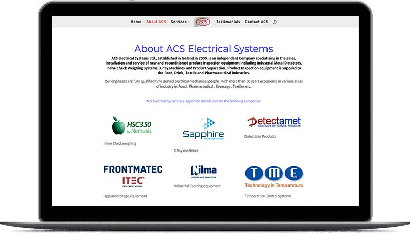 website design for electrical providers
