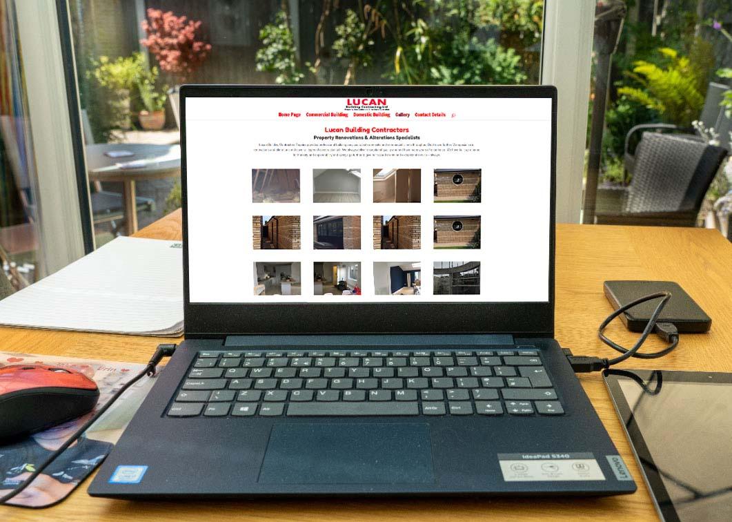 website design for building companies