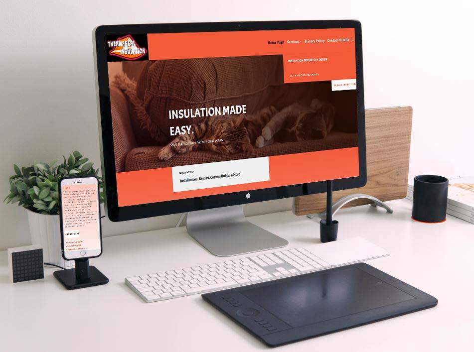 website design for insulation companies