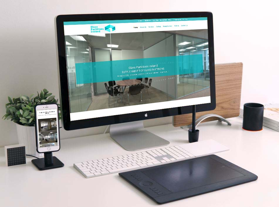 website design for glass partitions