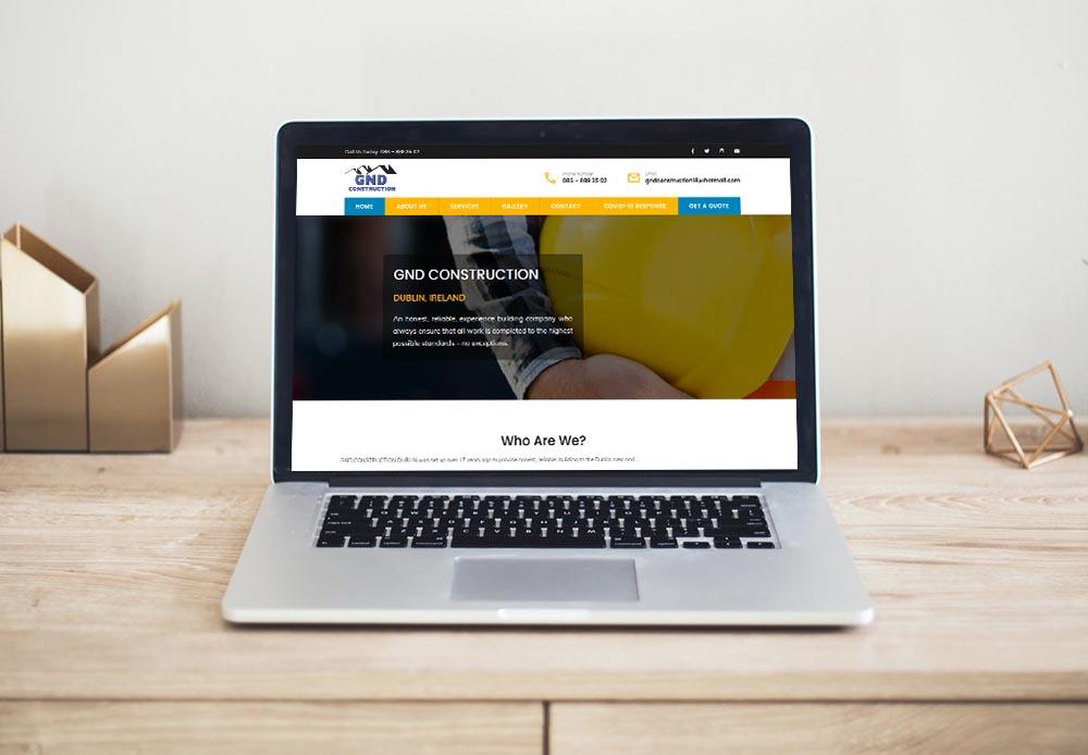 website design for builder company
