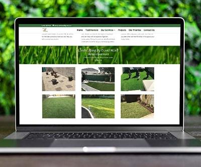 landscaping for david ward website design