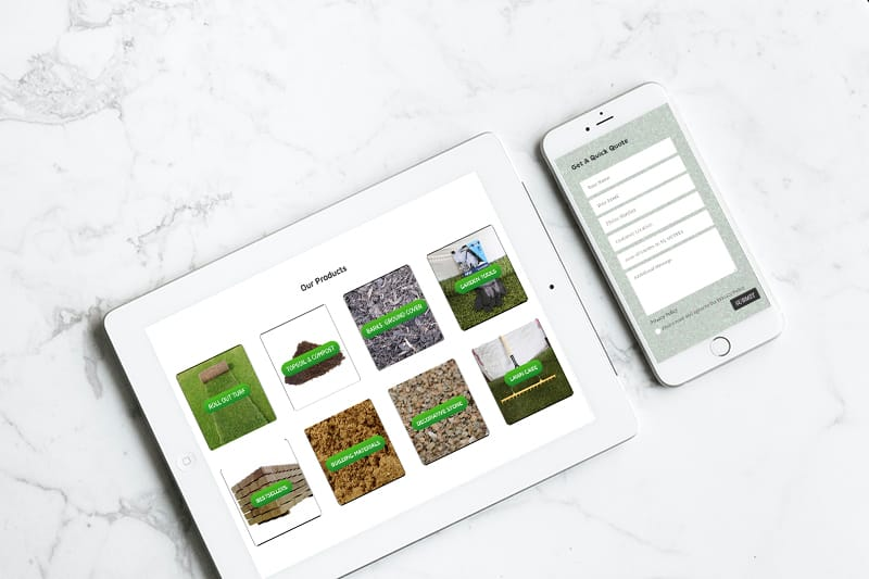 website design for lawn services