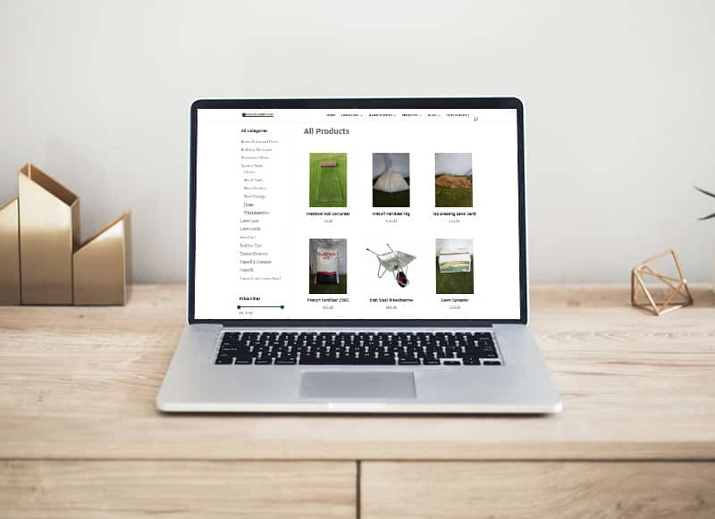 website design for lawn services