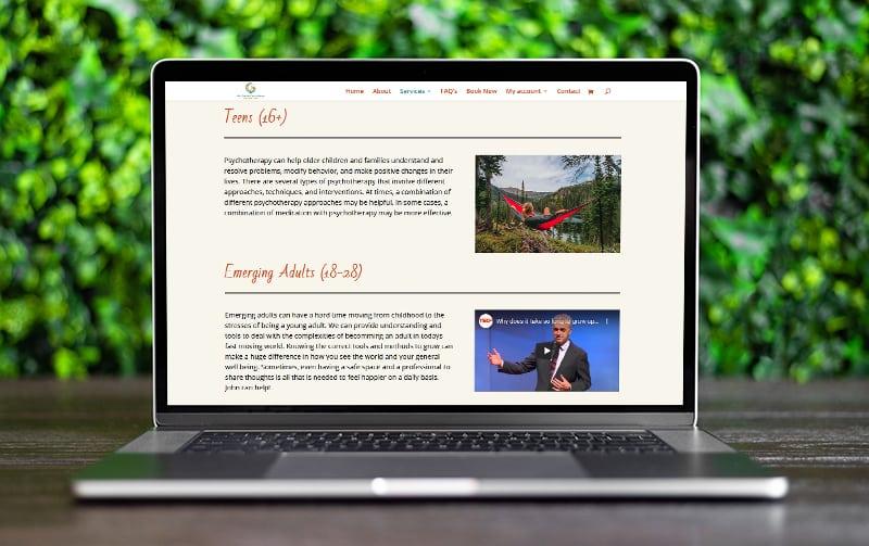 website design for psychotherapist