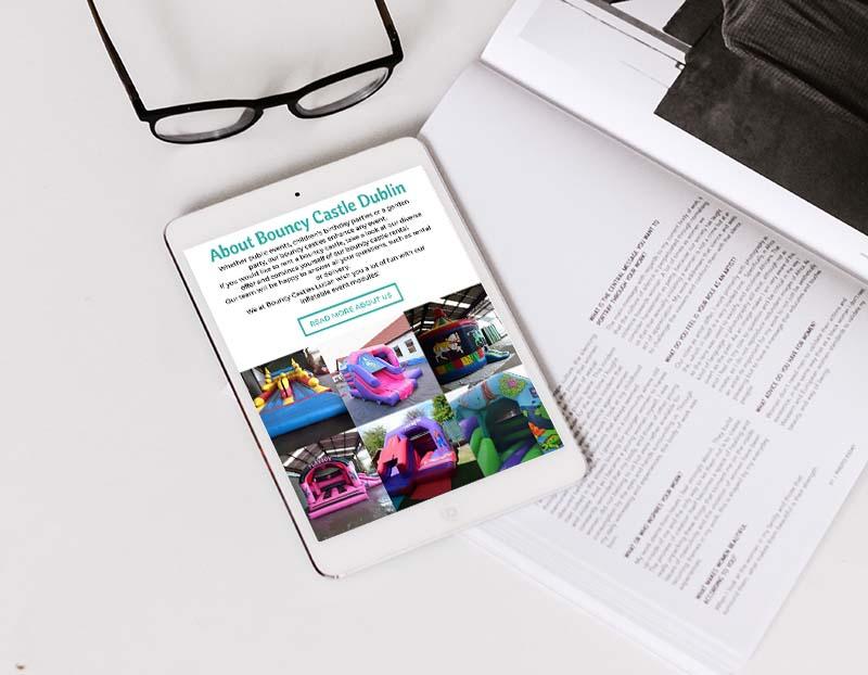 website design for bouncy castles dublin