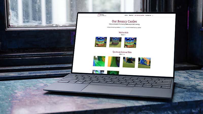 website design for bouncy castles meath