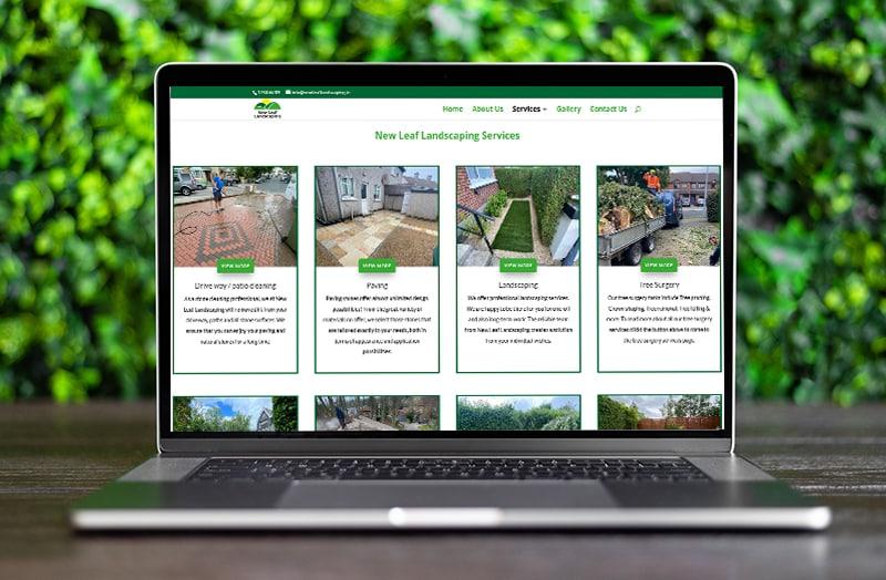 website design for landscaping services