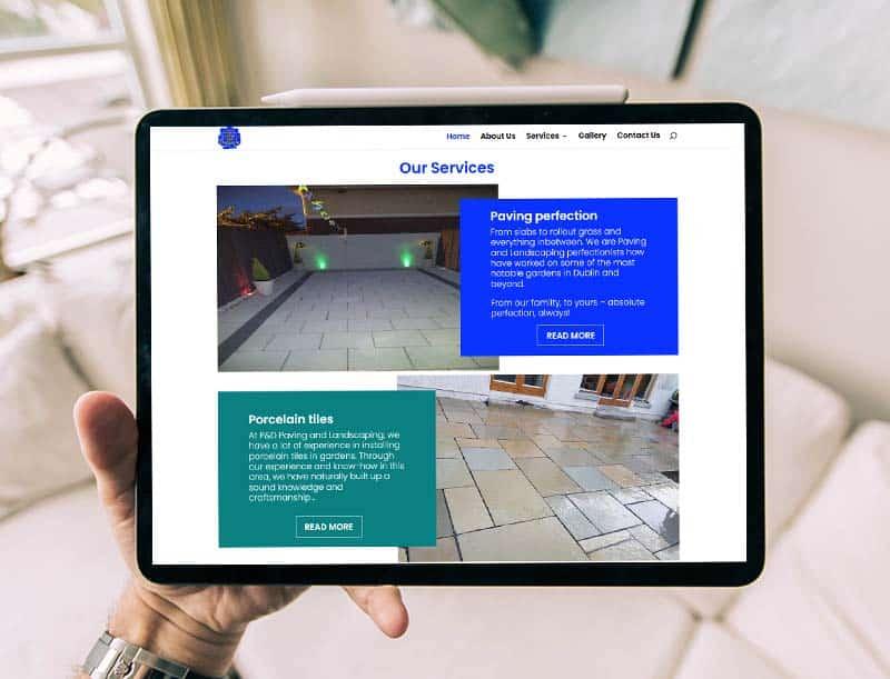 website design for paving companies