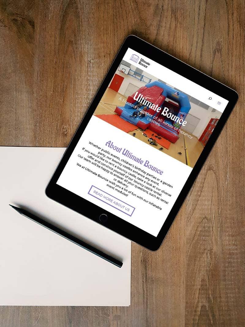 website design for ultimate bounce