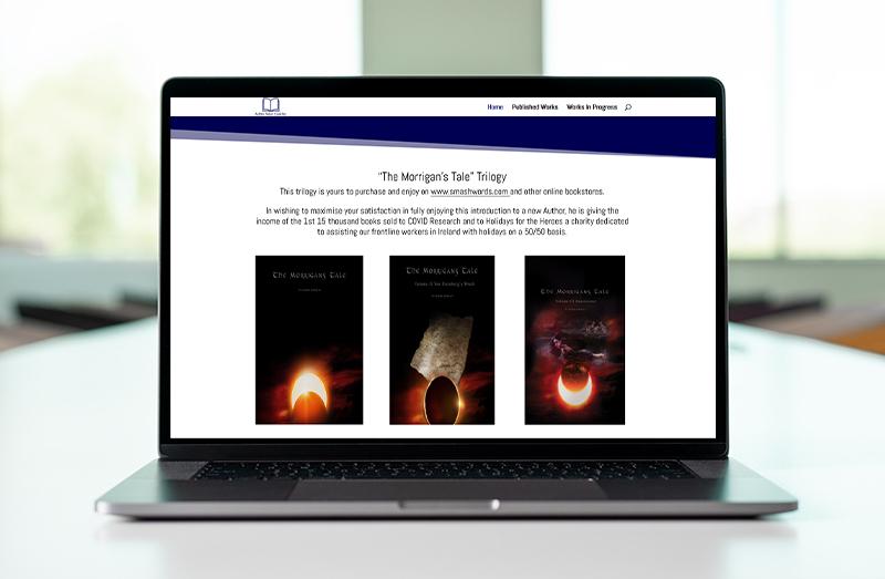 website design for an author