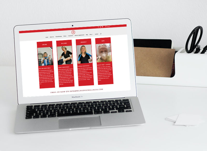 website design for physiotherapy