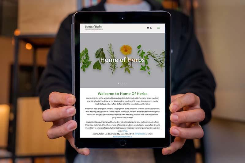 website design for a herbalist