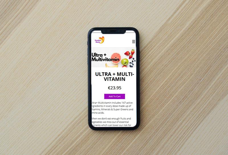 website design for supplements provider
