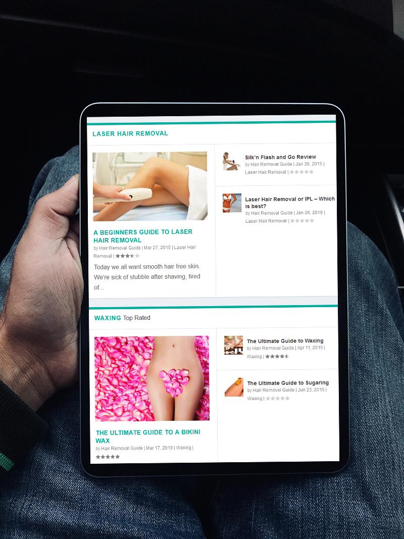 website design for hair removal guide