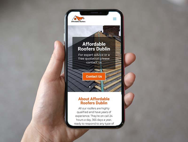 website design for affordable roofers